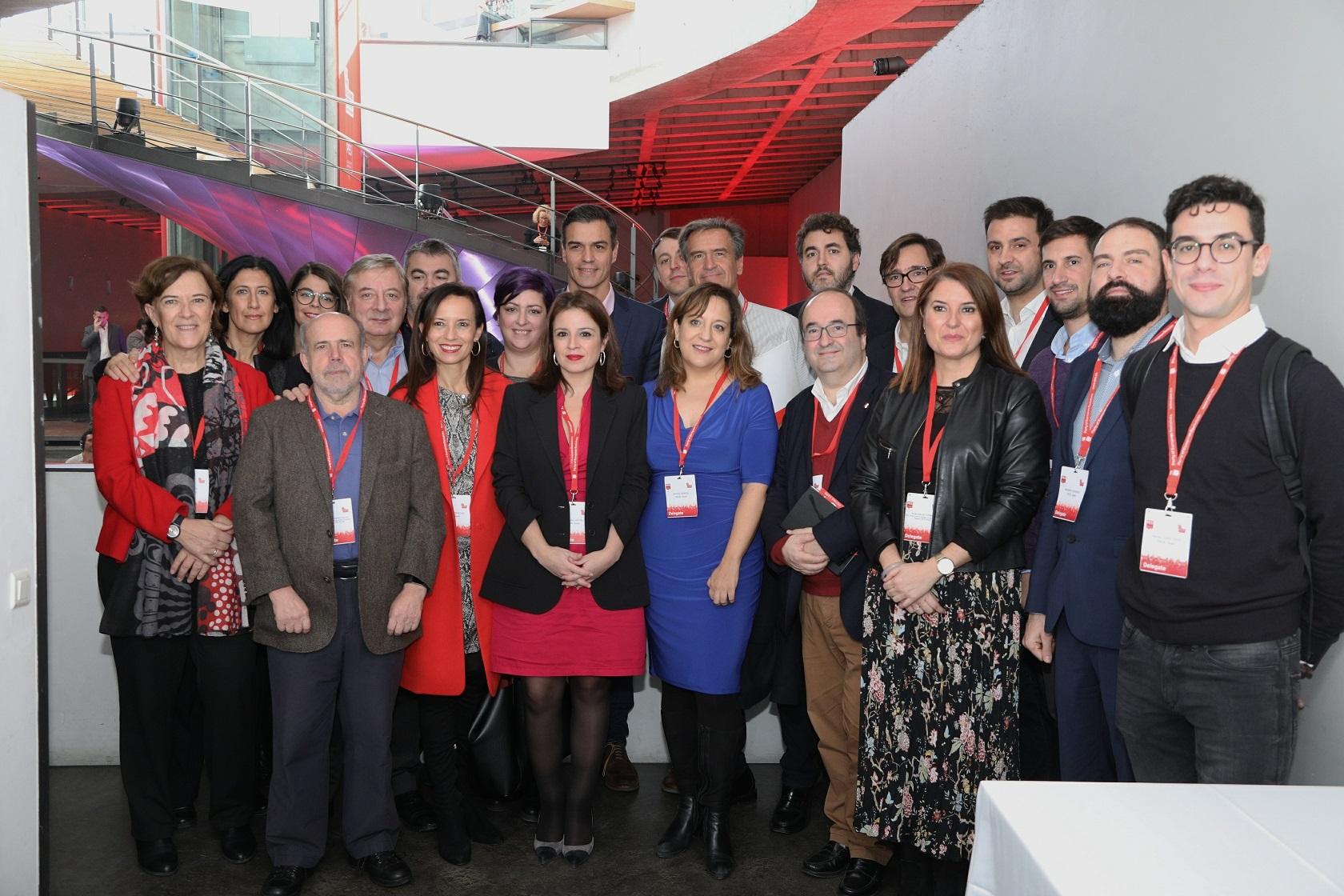 Grupo de españoles socialistas