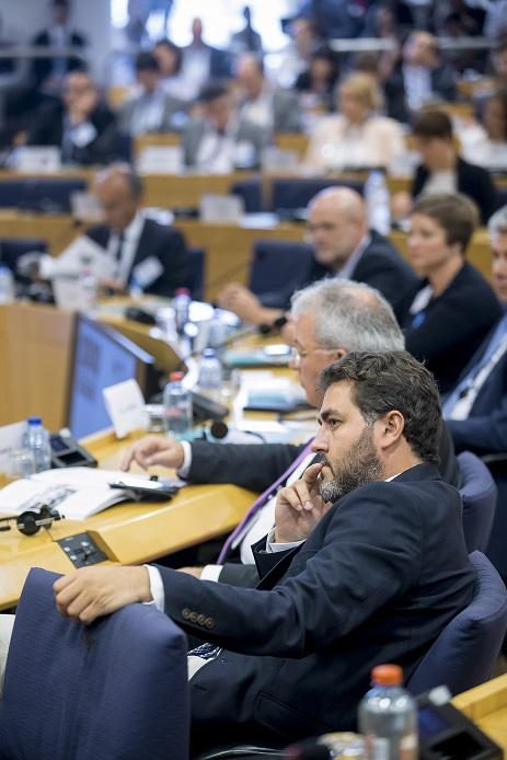 Jonás Fernández en el hemiciclo del Parlamento europeo