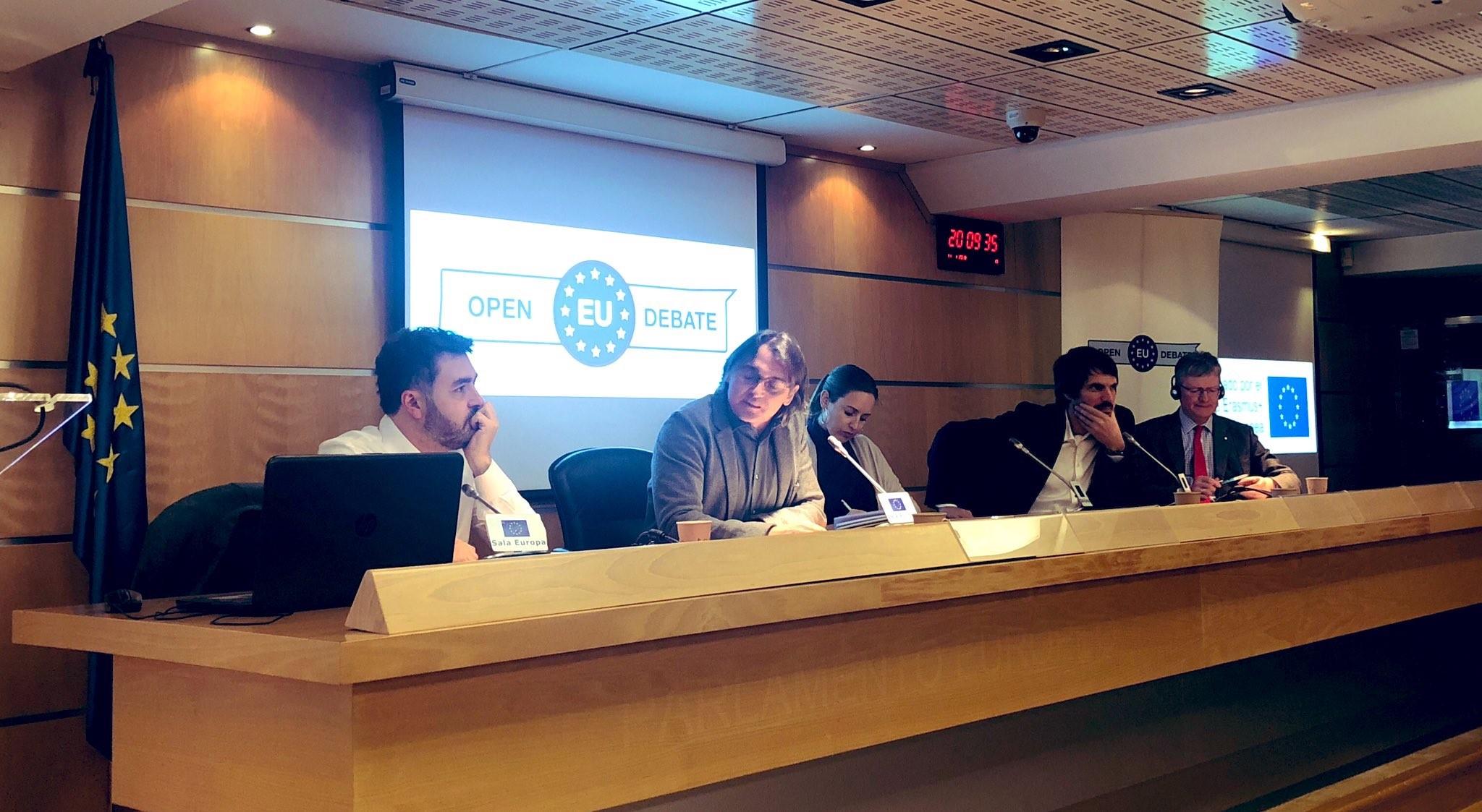 Jonás Fernández hablando en Open Europe