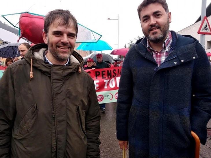 Jonas Fernandez en la manifestacion del 1 de mayo