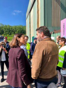 Jonás Fernández saluda a la ministra Maroto