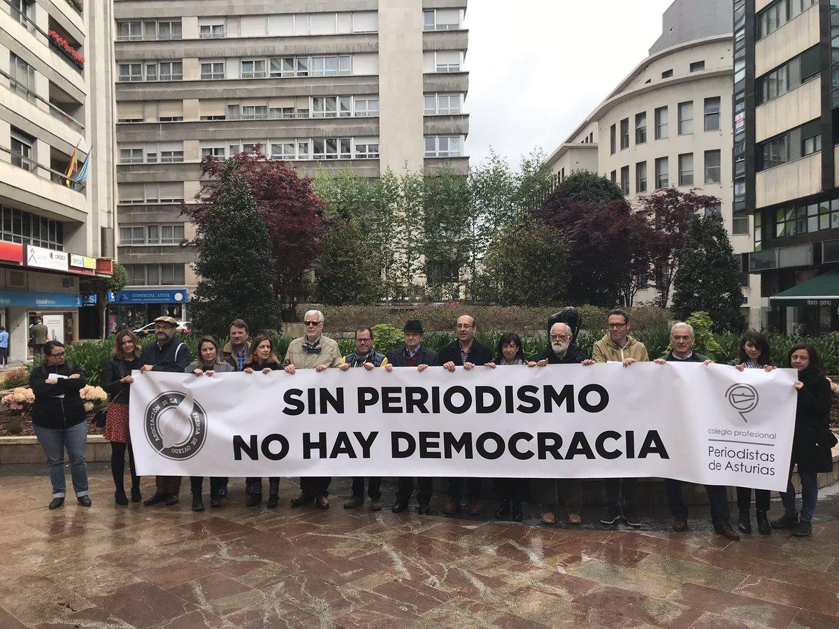 Manifestación periodistas asturianos