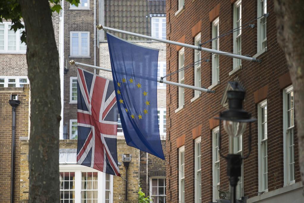 Banderas Union europea y Reuno Unido