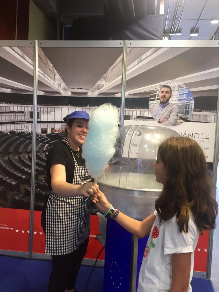 Distribucion de algodones de azucar