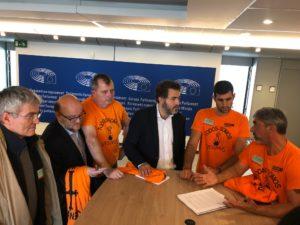 Jonás Fernández reunido con la delegación de Vesuvius