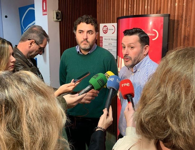 Rueda de prensa con Jonás Fernández y Javier F. Lanero
