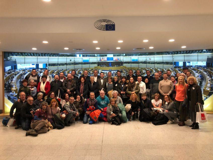 Foto de grupo en el Parlamento europeo